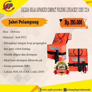 Jaket Pelampung Latizas Solas Advanced Compact Folding Life Jacket Code 72214